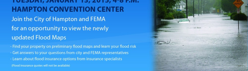 City of Hampton Public meeting on flooding and flood maps