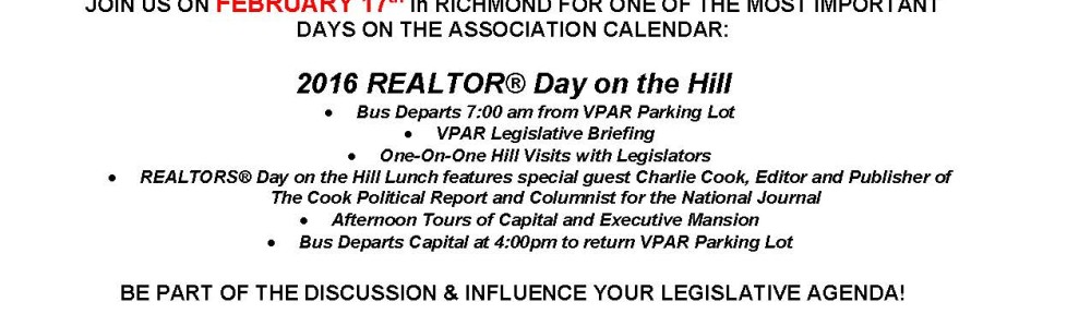 2016 REALTOR® Day On The Hill – Weds. February 17th